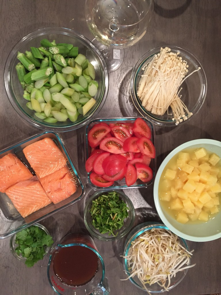 Canh chua mise en place