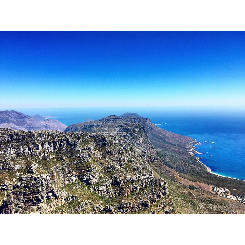 Clear afternoon view of Table Mountain