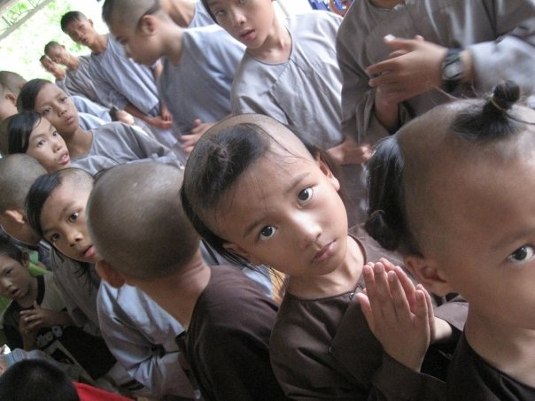 The child monks were extremely disciplined. You wouldn't believe their cooperation and good behavior for a dental extraction!