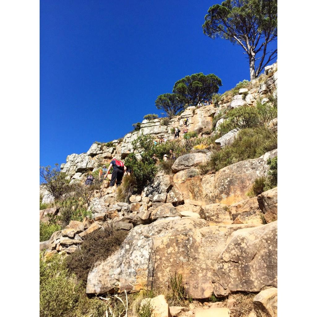 Fun rock climbing at Lion's Head