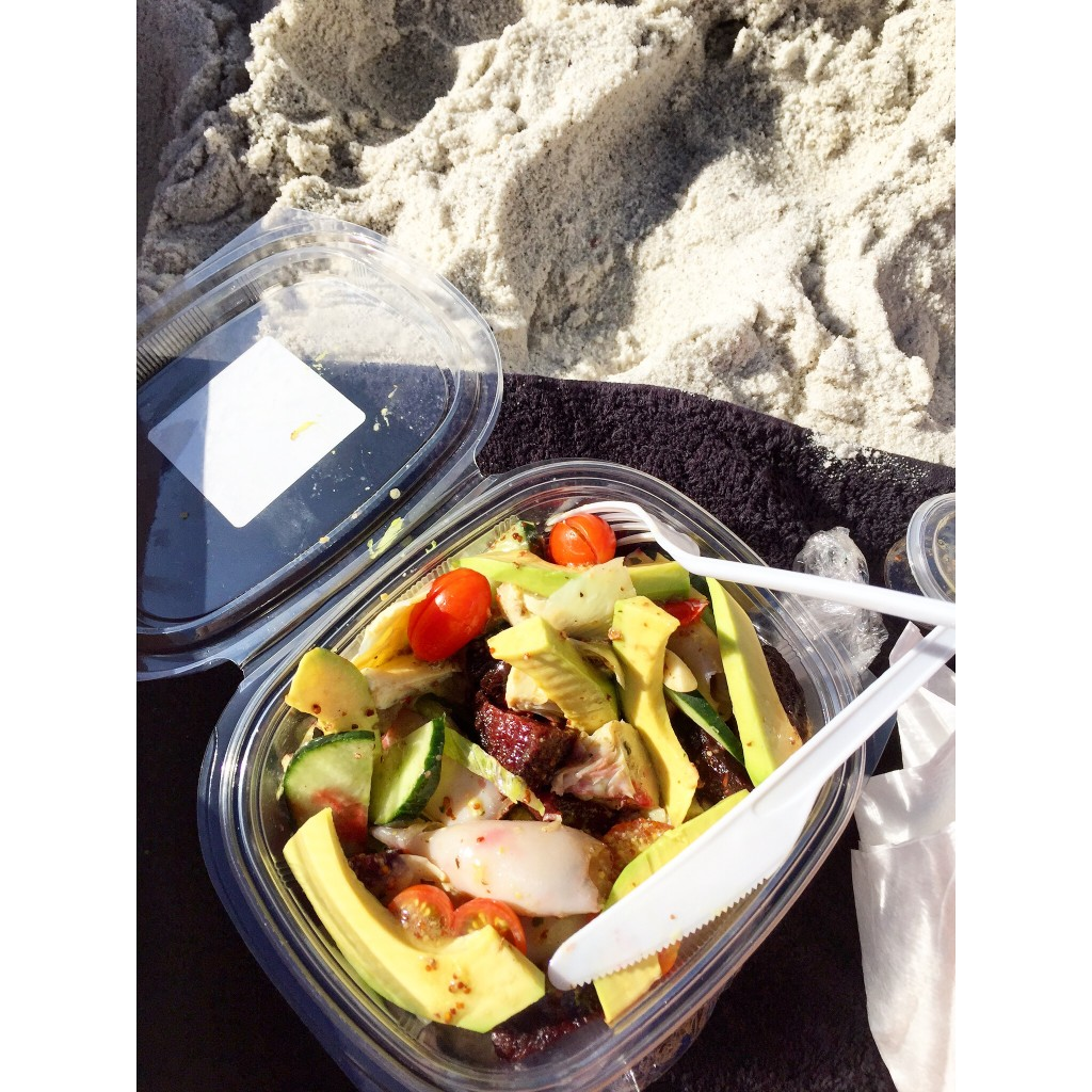 The perfect beach lunch is from Giovanni's, an italian style deli in Greenpoint. I custom made the most lekker squid, avocado salad and was so happy!