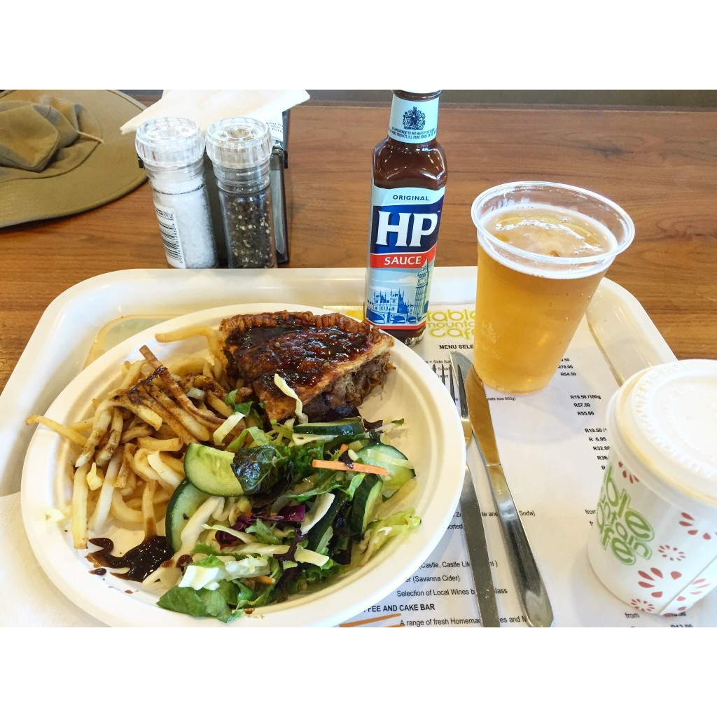 Ostrich Pie with local beer and Harry Potter sauce ;)