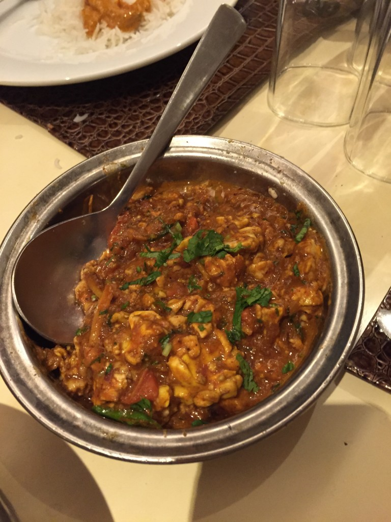 BRAIN CURRY: It was actually really good! Flavorful and turned out to be the best dish at the entire table.