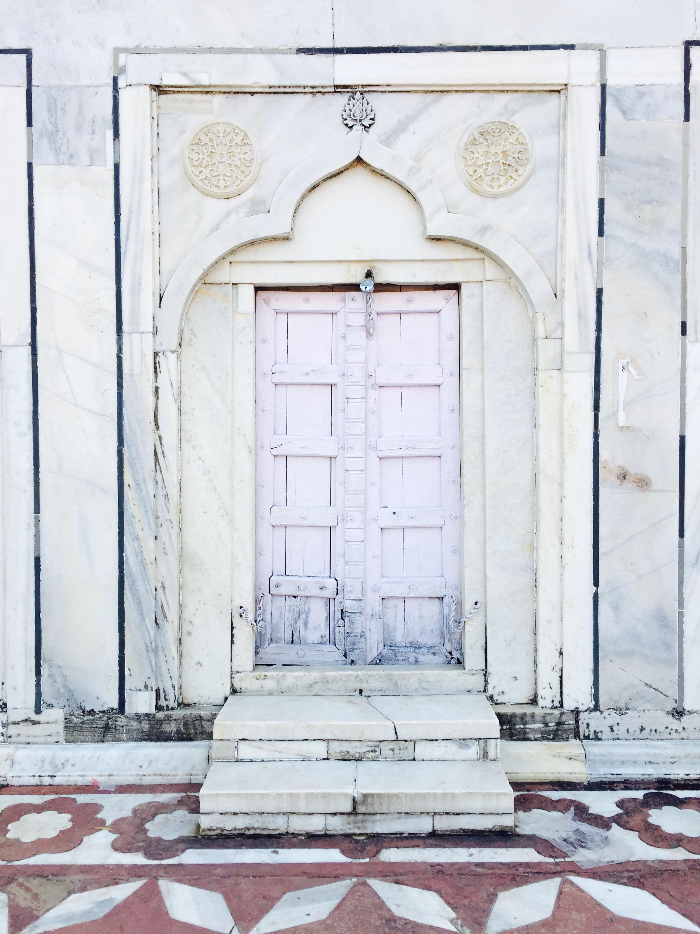 I think I took photos of every single door in the Taj.