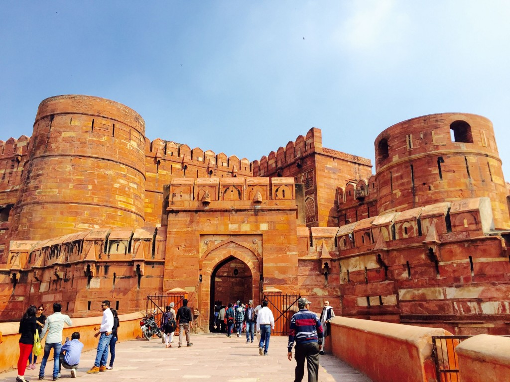 Agra Fort is just 2km from the Taj Mahal and is a UNESCO World Heritage Site.