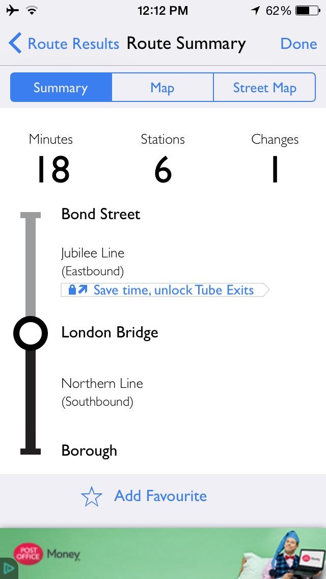 londen tupe app map app
