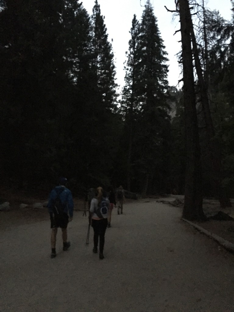 We started our hike at 5:30 am in the pre-dawn darkness.