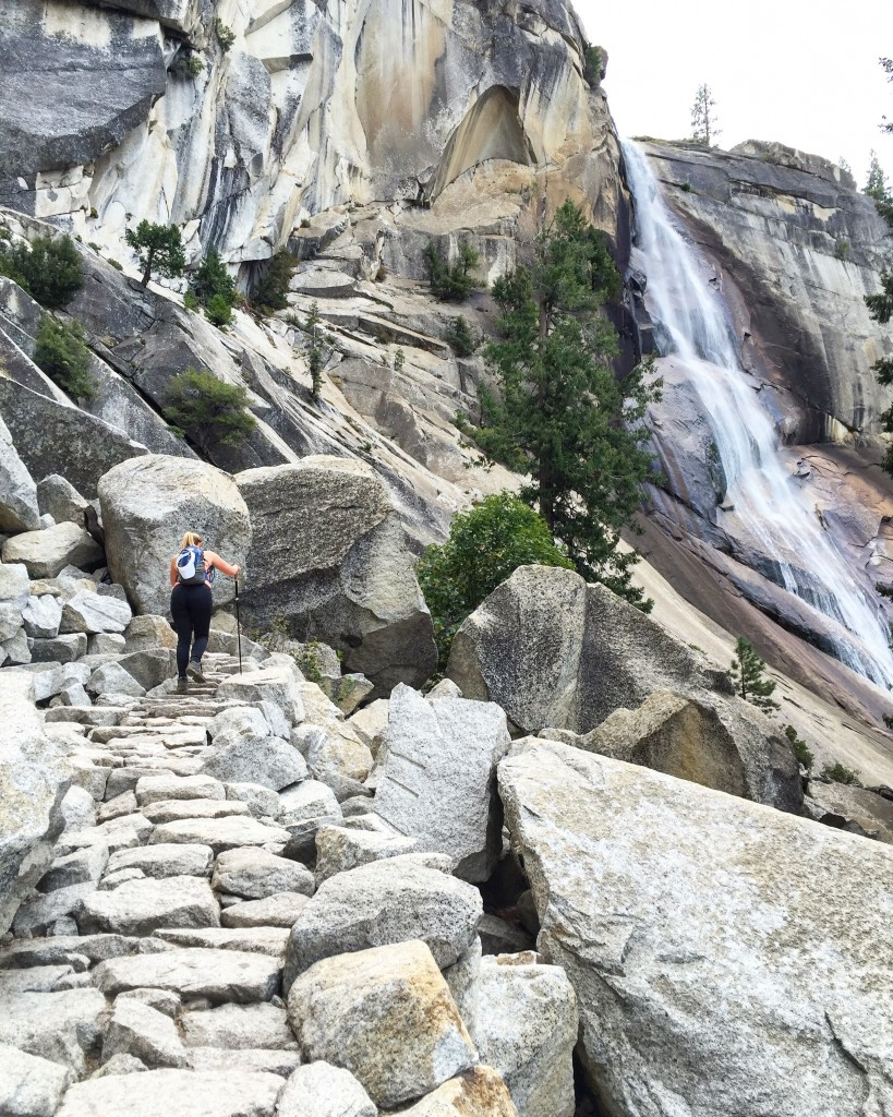About 3.5 miles in, you approach Vernal Fall which had more water falling!