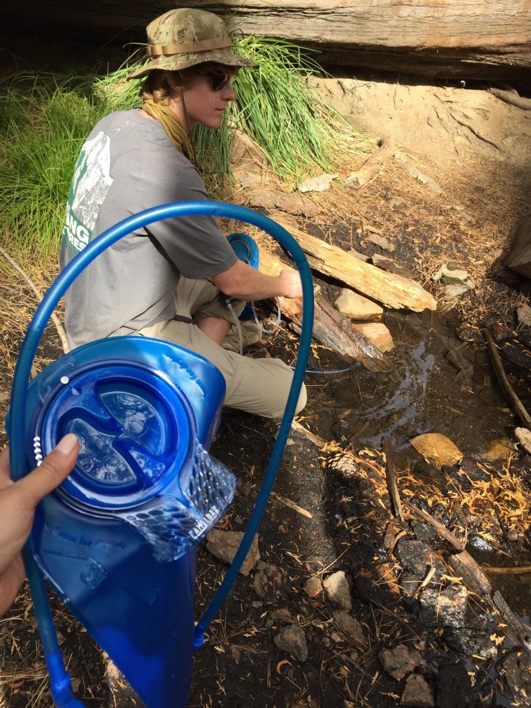 Filtering water from a secret water hole