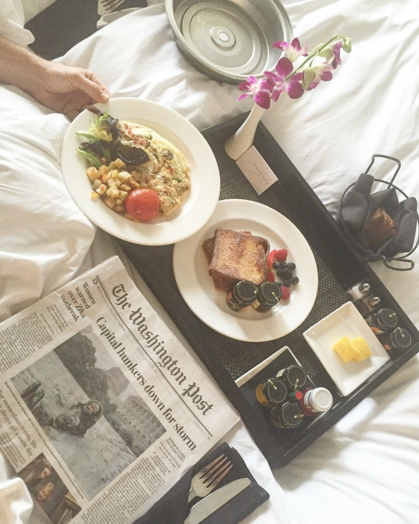 Day 2 of the Storm, Breakfast in Bed