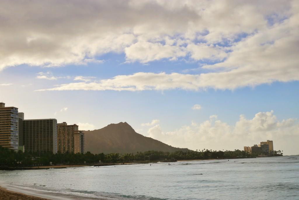 Good morning from Waikiki Beach and Diamond Head