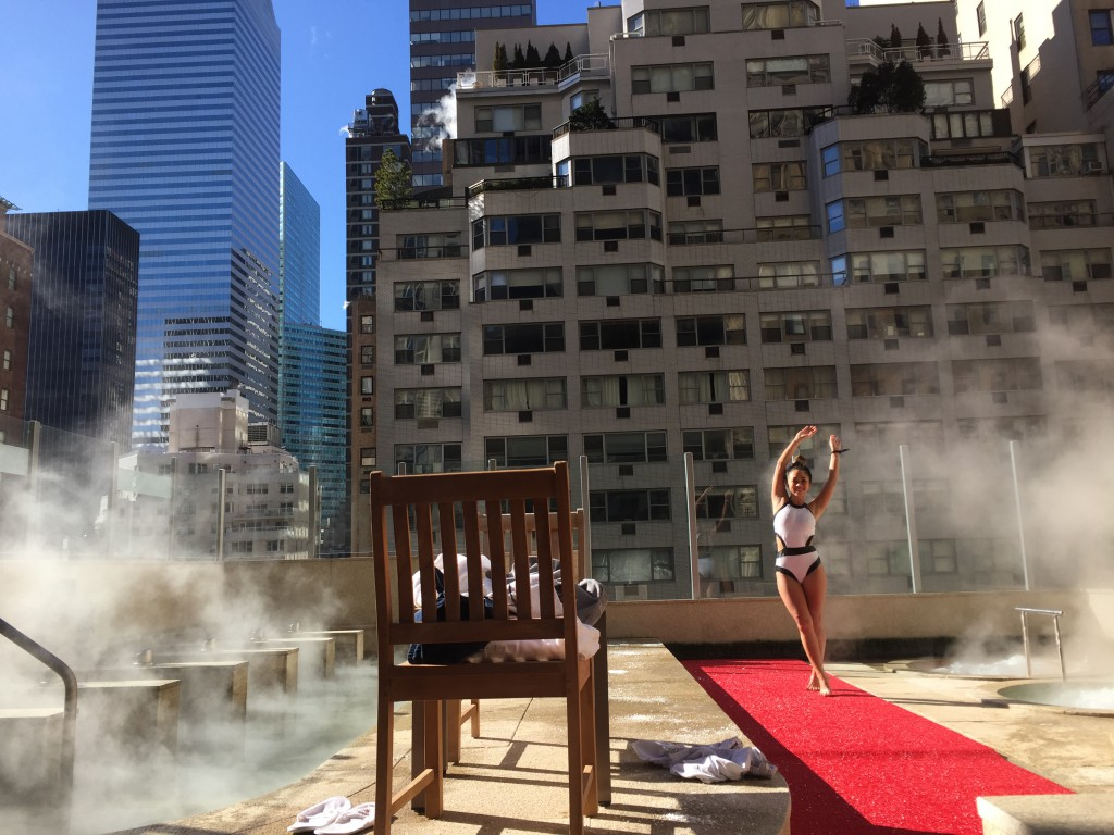 Premier 57 is a Korean spa in midtown. Even on a ONE degree day in February, we enjoyed the rooftop hot tubs!