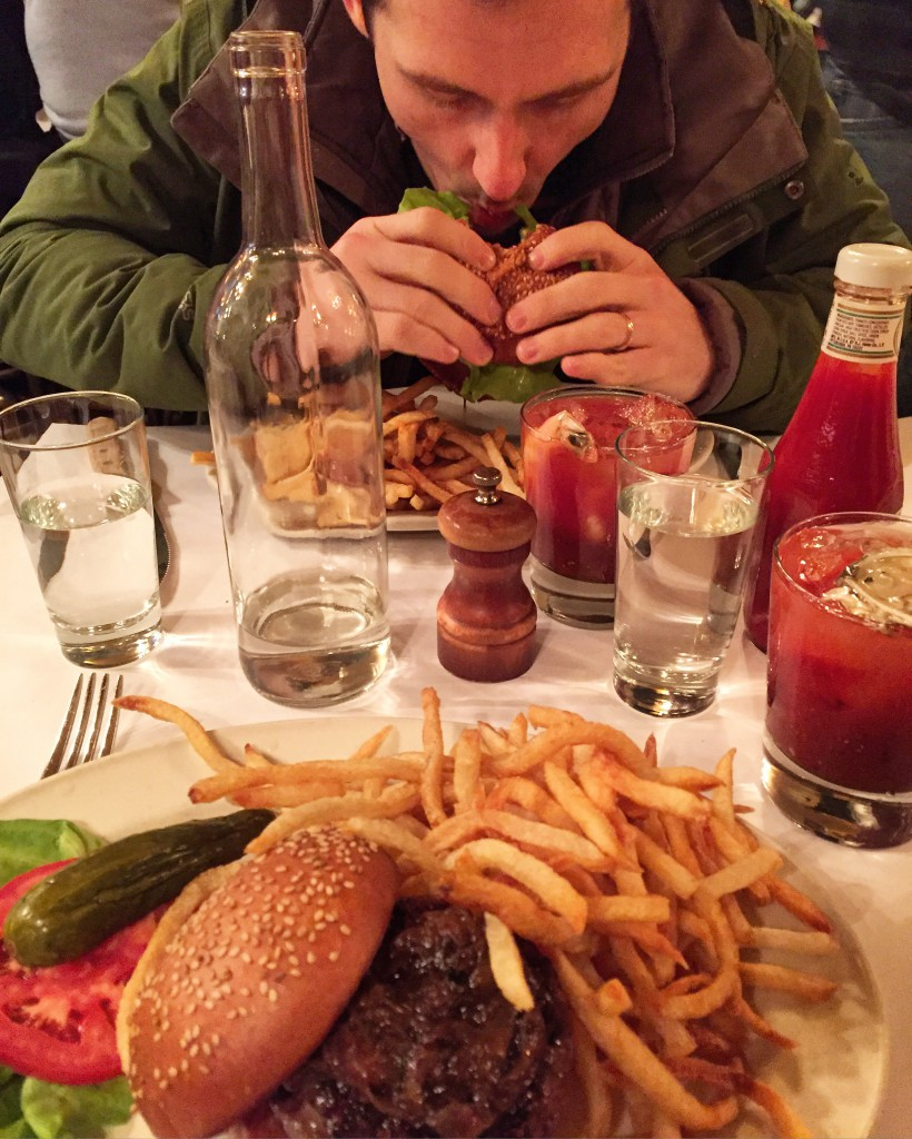 Two Black Label Burgers + Two Bloody Mary's= 1 Michelin Star