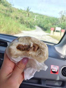 Steam pork bun from the gas station- yum!